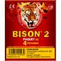 TIGRE BISON N°2 - 20 PACKETS DE 4 PETARDS A MECHE