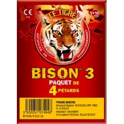 TIGRE BISON N°3 - 20 PACKETS DE 4 PETARDS A MECHE
