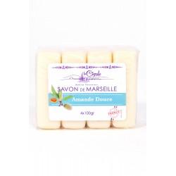 SAVON DE MARSEILLES AMANDE DOUCE 4X 100GR SUPERCLAIR