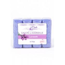 SAVON DE MARSEILLES LAVANDE 4X 100GR SUPERCLAIR